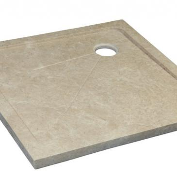 Bain receveur douche en travertin beige venezia 90x900x3 cm for Carrelage 80x120