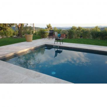 Margelle de piscine en pierre naturelle travertin 33x61x3 - Pierre naturelle pour piscine ...